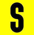 dark modern font trendy alphabet black letter vector image