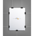 design element pattern sheet white paper vector image vector image