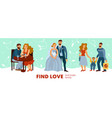 developing love relations vector image vector image
