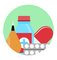 drugs and medications icon vector image