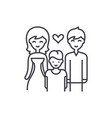 family with child line icon concept family with vector image vector image