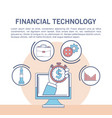 financial technology infographic vector image