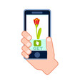 flower fast delivery service icon vector image