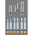 Flying modern space rocket vector image