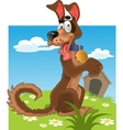 Friendly fun dog on background vector image vector image