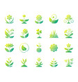 garden simple gradient icons set vector image vector image