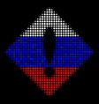 halftone russian error icon vector image vector image