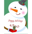 Happy Holidays greetings vector image vector image