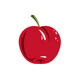 Harvesting symbol single red fruit isolated Ripe vector image vector image