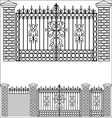 Iron gate doors and fences vector image vector image