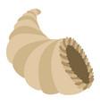 islated thanksgiving cornucopia vector image