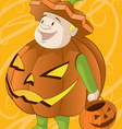 jack o lantern halloween costume vector image vector image