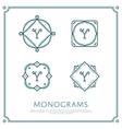 Letter Y Monogram vector image vector image