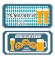 logo for bar banner oktoberfest vector image vector image