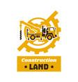 Logo of construction equipment globe earth gear