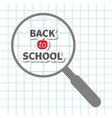Magnifier glass Back to school chalk text Paper vector image vector image