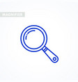 magnifier icon outline styled magnifying glass vector image vector image
