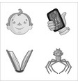 man education and other monochrome icon in vector image vector image