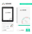 meter business logo tab app diary pvc employee vector image vector image
