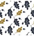 oak leaves and acorns pattern vector image vector image
