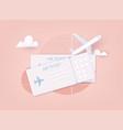 online ticket concept buying tickets vector image
