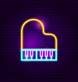 piano neon sign vector image vector image