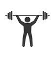 power lifting icon man with barbell sign vector image vector image