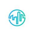 real estate logo icon design vector image vector image