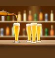 realistic beer vector image vector image