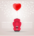 red child car seat with red baloon in shape of vector image vector image
