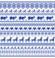 retro cross-stitch seamless pattern vector image vector image