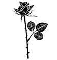 rose flower bud vector image vector image