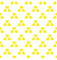 seamless pattern with yellow hearts hand drawn vector image vector image