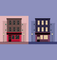 set of flat by irish pub day and night vector image vector image