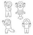 set of happy people vector image
