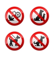 Set prohibited signs - animals vector | Price: 1 Credit (USD $1)
