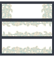 set three floral banners vector image