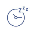 simple lineart clock icon with arrows at night vector image vector image