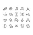 simple set abstract product related line icons vector image vector image