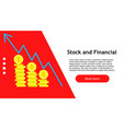 stock market banking financial management vector image