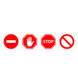 stop sign icon set prohibitory signs there is no vector image