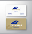 swimming abstract modern abstract logo and vector image vector image