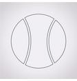 tennis ball icon vector image vector image