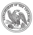the seal of the department of the interior of the vector image vector image