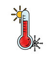 thermometer device isolated icon vector image
