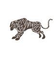 tiger cartoon graphic vector image