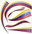 venezuela flag set vector image vector image