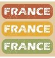 Vintage France stamp set vector image vector image