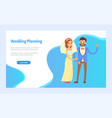 wedding planning arrangement event on each step vector image vector image
