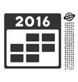 2016 month calendar icon with job bonus vector image